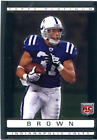 Donald Brown Unsigned 2009 Topps Platinum Card