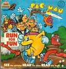 PAC-MAN Run for Fun (1980) Kid Stuff  softcover book with 33-1/3 RPM record
