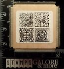 STAMPENDOUS USED RUBBER STAMPS TC54 TILED QUAD CUBE VINTAGE ACCENTS