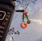Christmas Wreath Bell Cell Phone Charm Dust Plug Cover All Phones+++Free Ship