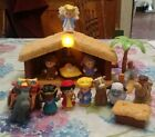 Fisher Price Little People Nativity Set Wise Men Manger Inn Bethlehem 17 Pieces