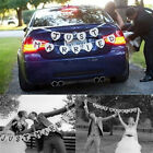 Just Married Garland Wedding Banner Car Bunting Western Venue Party Decor SignT