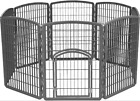 Animal Exercise Pen Pet Play 8 Panel Puppy Dog Cage Large 6299 By IRIS
