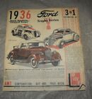 Instruction Assembly Sheet AMT 1936 Stock Roadster/Chopped Coupe Model Car