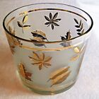 SALE! ! ANCHOR HOCKING STARLYTE GOLD LEAF ICE BUCKET  GLASS BOWL 4.5 T X  5.5