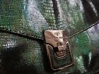 Pied A Terre Green Black Pearlescent Clutch Bag Christmas Party great condition