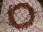 Red berries wreath grapevine country  primitive wreath