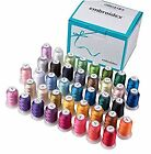 40 Spools Stunning Bright Brother Colors Polyester Embroidery Machine Thread