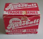 Vintage Topps 1986 Baseball Traded Series Card Set In Box 1-T through 132-T
