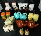 LOT Vintage Salt  Pepper Shakers Mixed Lot 12 SETS All Different