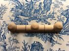 Vintage Style French Traditional Faux Bamboo Wooden Coat Pegs Hooks (886)