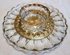 Culver Green Valencia Serving Plate with Dip Bowl - Arcoroc