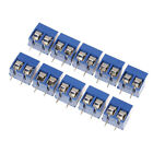10pcs Blue 2-pin Pitch Screw Terminal Block Connector 5.08mm Panel Pcb Mount