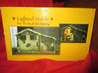 lighted stable for the real life nativity three kings gifts 7 scale with box