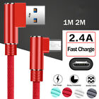 For Android 90 Degree Micro USB Fast Charging Cable Data Charger For Samsung S7