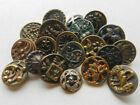 Variety Lot of 20 Pretty Antique Victorian Fancy Metal Buttons