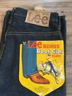 Vintage Denim Lee Riders 1960S Black Tag Kids Jeans Dead Stock New With Tags