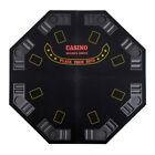 Black Octagon 48 8 Player Four Fold Folding Poker Table Top  Carrying Case