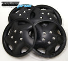 Hubcap 14 Inch Wheel Rim Skin Cover 4pcs Set Matte Black Style 852 14 Inches