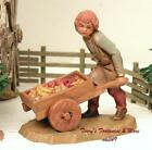 FONTANINI DEPOSE ITALY 5 HUGO PUSHING CART NATIVITY VILLAGE FIGURE 54089 NIB