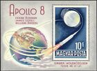 Hungary 1969 Apollo 8 Space Flight Moon Earth Astronauts Transport m s n23939