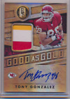 TONY GONZALEZ 2018 PANINI GOLD STANDARD GOOD AS GOLD AUTO PATCH CHIEFS 5 5