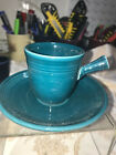 Fiesta DEMITASSE CUP & SAUCER AD  - 1st.-  Retired - STICK HANDLE - JUNIPER