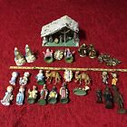 Big Mixed Lot of 29 Vintage NATIVITY SCENE Figures Mostly 1950s Mostly ITALY