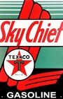 Texaco Gasoline Sky Chief Retro Vintage Tin Sign , 12.5