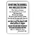 Do Not Ring Bell No Soliciting Baby Sleeping FUNNY Metal Sign 5 SIZES SF023
