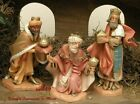 FONTANINI DEPOSE ITALY 5 KINGS MELCHIOR GASPAR BALTHAZAR NATIVITY FIGURES MINT