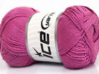 Lot of 4 x 100gr Skeins ICE BAMBOO SOFT 50 Bamboo Hand Knitting Yarn Orchid