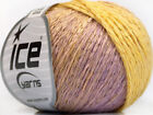 Lot of 8 Skeins ICE SOFT CHAIN WOOL 30 Wool Hand Knitting Yarn Lilac Yellow