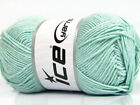 Lot of 4 x 100gr Skeins ICE BAMBOO SOFT Hand Knitting Yarn Mint Green