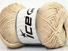 Lot of 4 x 100gr Skeins ICE BAMBOO SOFT 50 Bamboo Hand Knitting Yarn Beige
