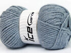 Lot of 4 x 100gr Skeins ICE SOFT TOUCH BULKY Hand Knitting Yarn Jeans Blue