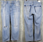 Citizens of Humanity Premium Vintage Caroline High Rise Crop Torn Jeans 29 Liya