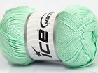 Lot of 4 x 100gr Skeins ICE BAMBOO SOFT 50 Bamboo Yarn Mint Green