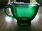 Set of 11 Vintage  Anchor Hocking Forest Green Punch Cups - Nice!
