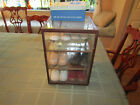 Antique Baby Shoe Store Display Case