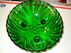 Vintage Emerald Green Glass Hobnail Style 3-Footed Bowl Candy Dish Salad 8 1/2