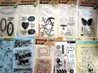 Lot of 10 Packs of Clear Acrylic Stamps and Dies NEW