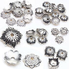 Tibet Silver Plated Hollow Flower Spacer Bead Caps DIY Jewelry Making Acces