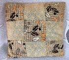 """ Shelf Sitter Decor Pillow Calico Cotton Quilt Block"