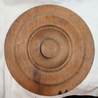 Primitive farm Barn country Antique Wood lid top Vintage turned 9 inch VG