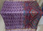 SILK BLEND Antique Vintage Sari Saree Fabric Material 4yd 3 Multi LONG #ABJM4