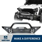 Fit 2007 2018 Jeep Wrangler JK Hooke Road Front Bumper w 4 LED Lights