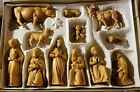 Friedel Krippenfiguren Vintage Hand Painted Nativity Set Germany 1950s