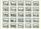 SWEDEN POSTER STAMPS SHEET 25 DIF BUILDINGS  SHEET FOLDED OVER PERF