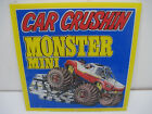 OLD VINTAGE HAND PAINTED GLASS PANEL MONSTER MINI TRUCK